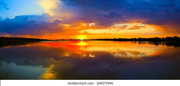 water and sunset view