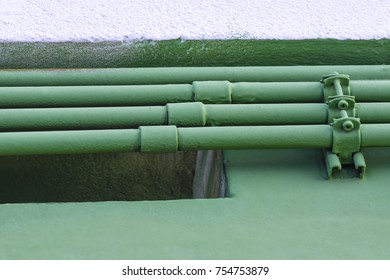 Water supply pipe for high rise buildings or factories.