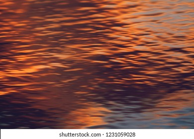water surface background on sunset
