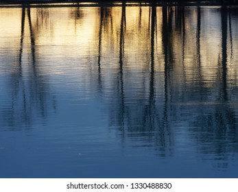 water Surface of a river as Abstract image