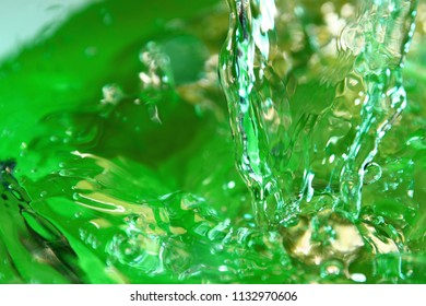 Water surface / Water is a transparent, tasteless, odorless, and nearly colorless chemical substance that is the main constituent of Earth's streams