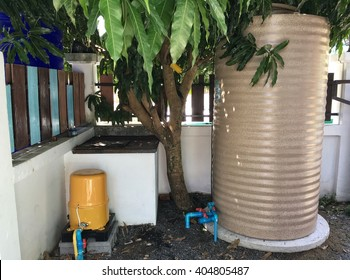 Water tank storage and water electric pump system of water power at home.