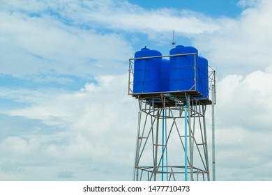 Water tank ,Water tank tower and blue sky