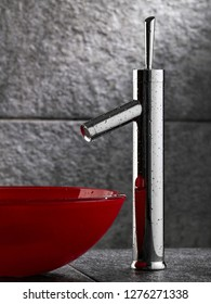Water tap in a bathroom