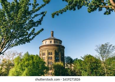 water tower in berlin prenzlauer berg in springtime - Shutterstock ID 1619271826