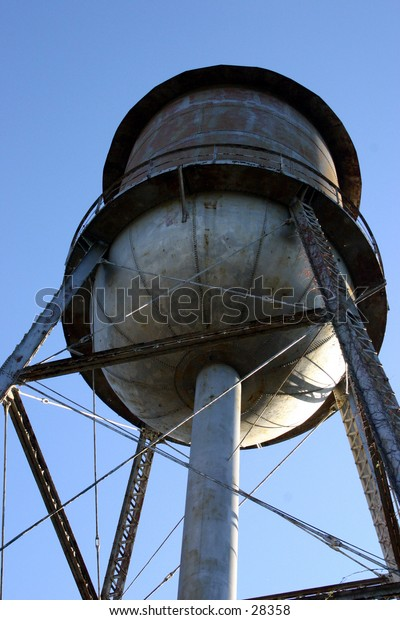 A water tower at a cotton mill.