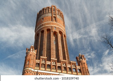 Water tower in the historic centre of Luneburg, Germany