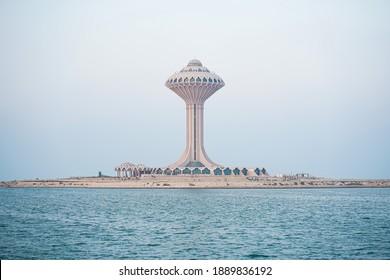 A water tower at khobar corniche, saudi arabia