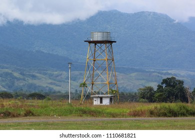 The water tower at Lae's Nadzab airport.