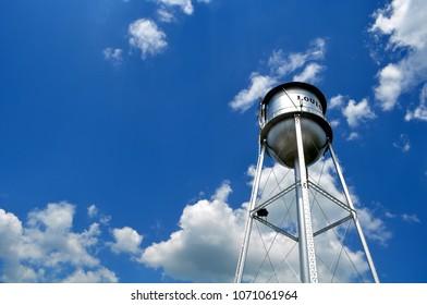 Water tower in Louisa, Virginia