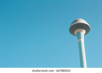Water Tower on clear blue sky