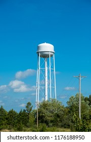 Water tower outside of a small american town