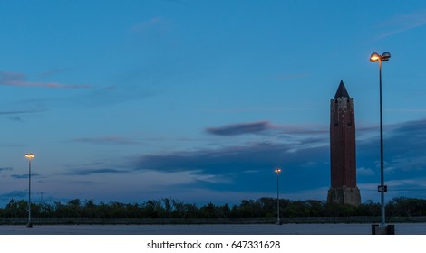 Water Tower in parking lot