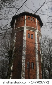 The water tower in the trees