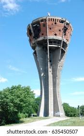 water tower in Vukovar