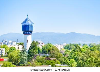Water tower Wasserturm in Kehl, Germany Europe