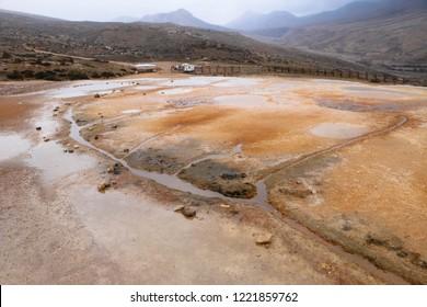 Water Tracks above the Badab-e Surt travertine Terraces, UNESCO world heritage site, Iran