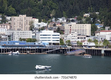 The water traffic in Juneau downtown, the capital of Alaska.