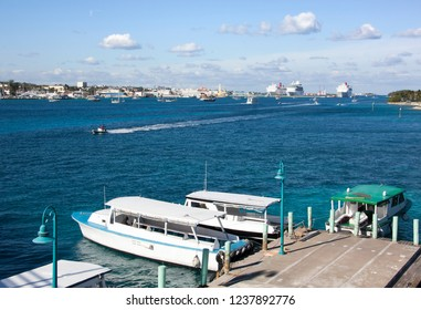 The water transportation between New Providence and Paradise islands (Nassau, Bahamas).