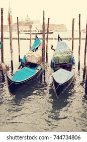 Water transportation. Gondolas. Venice. Italy