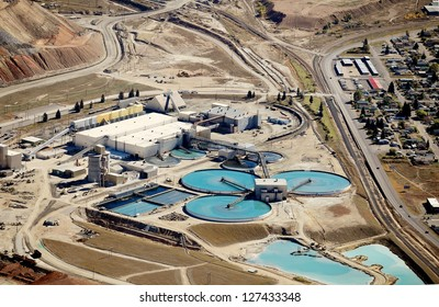 The water treatment facility at a copper mine and processing facility