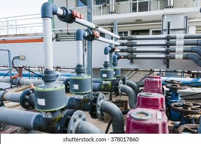 water treatment plant, injector piping system