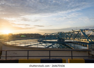 Water Treatment Plant at morning