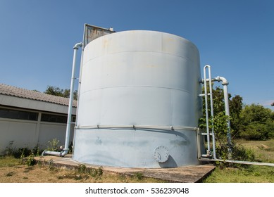Water treatment plants of the Waterworks in Thailand. Water purification