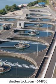 Water treatment pools