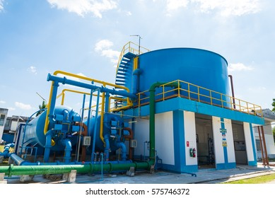 Water treatment process and Water treatment plants of the Waterworks in Thailand.