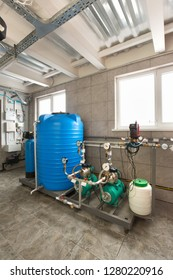 Water treatment system of industrial, gas boiler.