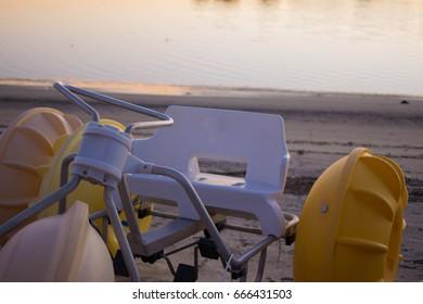 Water trike at sunset