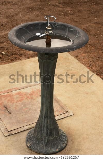 water trough in a street
