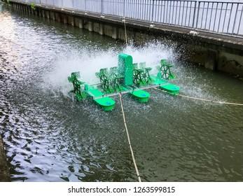 water turbine help for increase oxygen in water