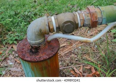 water valve plumbing steel dilapidated old rusty industrial tap dirty drink  pipeline