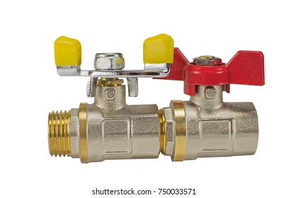 Water valve set isolated on white background