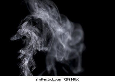 Water vapor isolated over black background