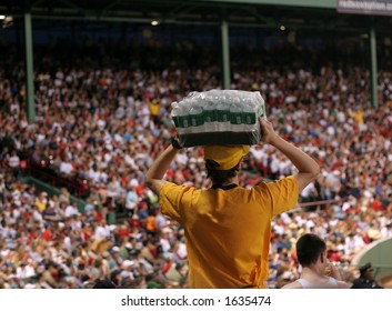 water vendor at baseball park