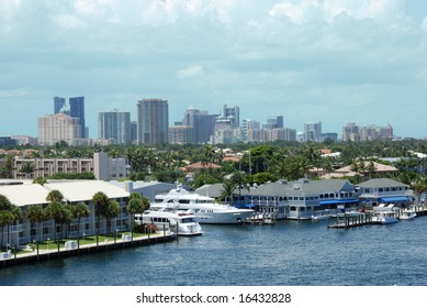 Water view of Downtown Fort Lauderdale, Florida