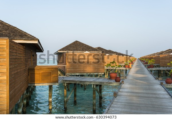 Water Villas On Meeru Island Resort Stock Photo Edit Now
