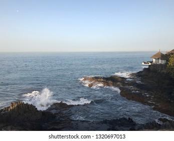 Water wave rock ocean