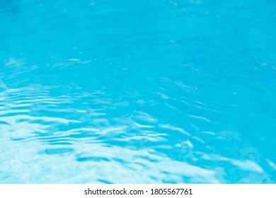 Water waves in the pool with blue background