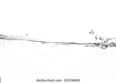 Water waves splash isolated on white background