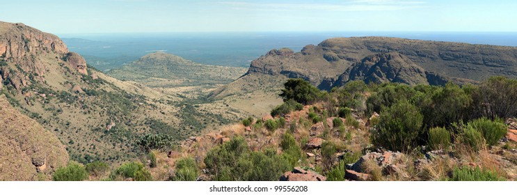 Waterberg mountain panorama.  Limpopo, South Africa.