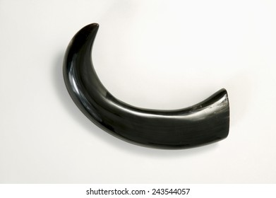 Water-buffalo horn, close-up
