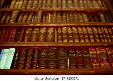 Waterbury, Connecticut/USA- 6.1.20- Jewish  Books/Seforim on shelves