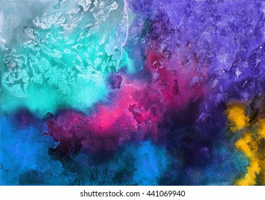 Watercolor abstract textured background. Template for scrapbooking
