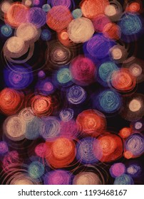 Watercolor background. Circle
