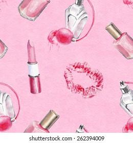watercolor beauty pattern