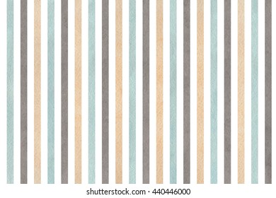 Watercolor beige, gray and blue striped background. Abstract watercolor background with beige, gray and blue stripes.